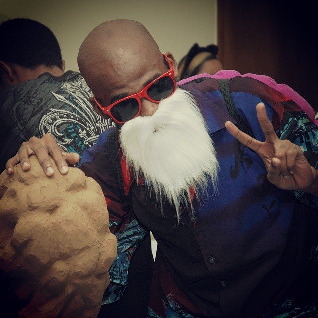 The legendary turtle hermit himself Master Roshi #AnimeNation2014 #DragonBall #cosplay #kamehameha