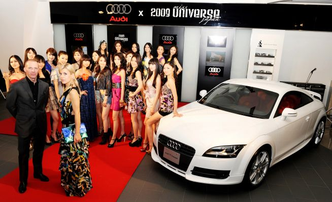 Audi Tt Red Convertible. audi-miss-universe-japan