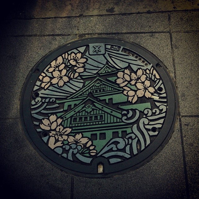 Osaka Castle manhole cover #japan #travel #osaka #drainspotting #manhole
