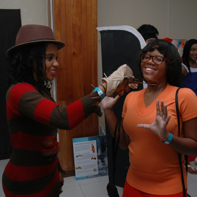 Jinkies! Freddy Krueger attacks Velma at Anime Nation 2014 #cosplay #AnimeNation2014 #scoobydoo #freddykrueger