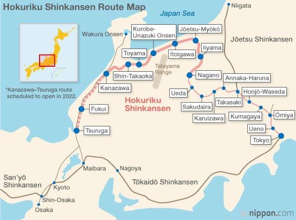 Hokuriku-Shinkansen-Tokyo-Kanazawa-bullet-train-map