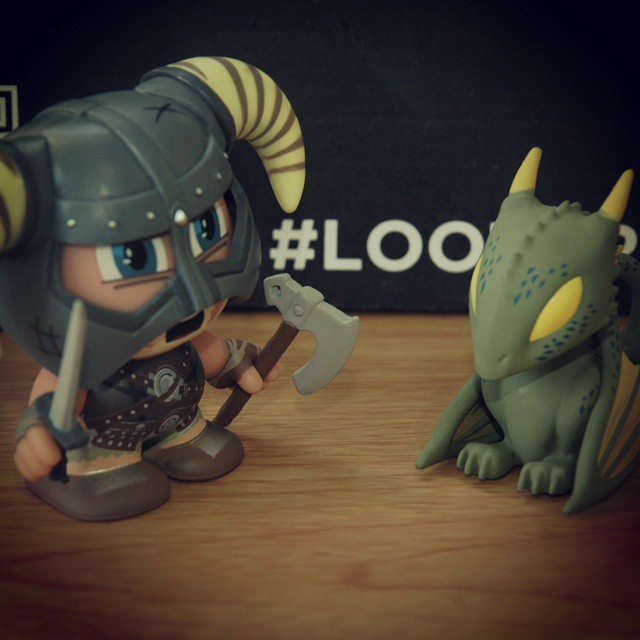 No reason a Nord and a Dragon can't talk like civilized creatures. #dragon #elderscrolls #lootcrate #nord