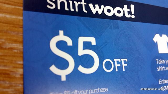 Shirt Woot $5 off