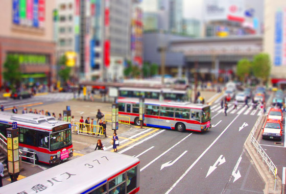 shibuya-bus-station-tilt-shift