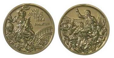 tokyo olympics 1964 medal